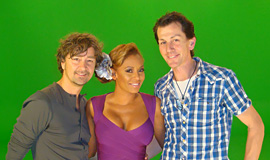 Lyndon & Leon on the set of 'Let's Dance with Mel B' Video Game