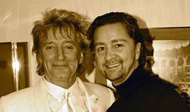 Lyndon with Rod Stewart for the Royal Variety Performance