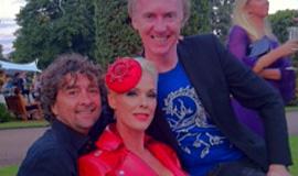 Lyndon with Brigitte Nielsen & Philip Treacy